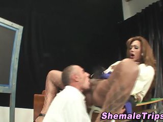 Hot italian tgirl sucked