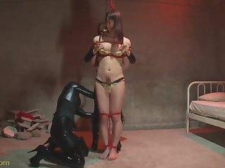 Asian tranny bondaged and she liked it